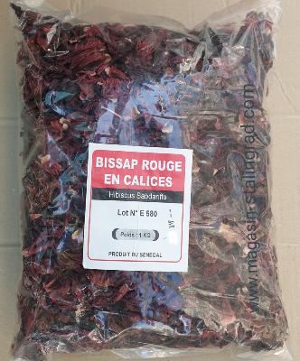 Bissap rouges en calices du Sénégal  (1kg)